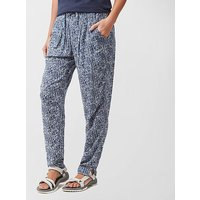 Weird Fish Womens Tinto Printed Harem Trousers - Dbl/Dbl, DBL/DBL