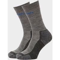 SALOMON SOCKS Men's Merino Socks 2 Pack, MGY/MGY