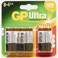GP BATTERIES Ultra Alkaline AA Batteries 8+4 Pack, 8+4/8+4