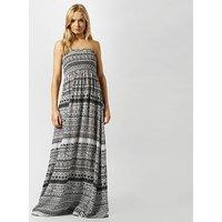 ANIMAL Women's Lucindi Printed Woven Maxi Dress, BLK/BLK
