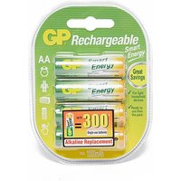 GP BATTERIES Smart Energy Rechargeable AA 4 Pack, RECHARGE/RECHARGE