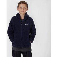 Peter Storm Kids' Teddy Hooded Fleece, Navy/Navy