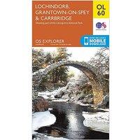 Ordnance Survey OL 60 Explorer Lochindorb, Grantown-on-Spey & Carrbridge Map, D/D