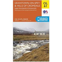 Ordnance Survey Explorer OL 61 Grantown-on-Spey & Hills of Cromdale Map, D/D