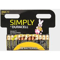 Duracell AAA Batteries 12 Pack, BLACK