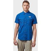 Columbia Men's Cascades Explorer Short Sleeve Shirt, Blue