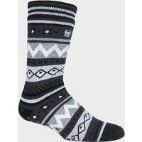 Heat Holders Men's SOUL WARMING Dual Layer Slipper Socks, PUR/PUR
