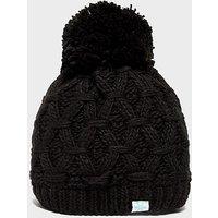 Alpine Women's Sapphire Bobble Hat, BLK/BLK