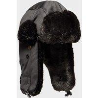 Alpine Women's Fur Trapper Hat, BLK/BLK