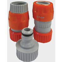 HITCHMAN Mains Adaptor Hose Connectors, ORANGE/GREY