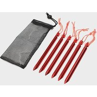 OEX Arrow Lightweight Aluminium Pegs (6 Pack), RED/PE