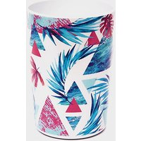 Handy Heroes Abstract Leaf Melamine Tall Tumbler (562ml), WHITE/BLUE
