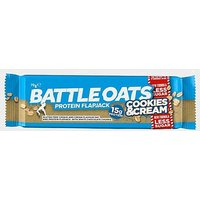 BATTLE OATS Protein Flapjack 70g (Cookies & Cream), CREAM/CREAM