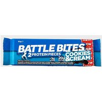 Battle Oats Battle Bites 20g (Cookies & Cream), BLUE/CREA