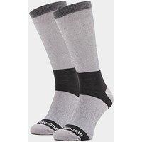 Bridgedale Men's Base Layer Coolmax Liner Boot Socks (2 Pair), GREY/LINER