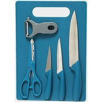 HI-GEAR 6PC CHOPPING BOARD, BLUE/KNIFE