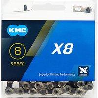 KMC Chains X8 MTB Bike Chain, GREY/GREY