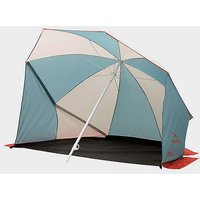 EASY CAMP Coast Beach Umbrella / Shelter, WHITE/BLUE