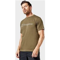 Berghaus Men's Big Outline Logo T-Shirt, Green/TEE