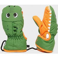 SNOWLIFE Kids' Animal Crocodile Mitts, GRN/GRN