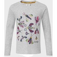 Weird Fish Kids' Bugsy Long Sleeved T-Shirt, GRY/GRY