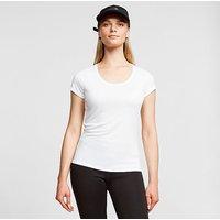 Odlo Women's Active F-Dry Light Baselayer T-Shirt, WHT/WHT