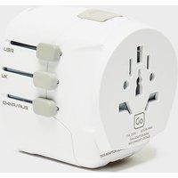 DESIGN GO DG Worldwide Adaptor + USB, White/USB