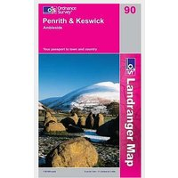ORDNANCE SURVEY Landranger 90 Penrith and Keswick Map Book