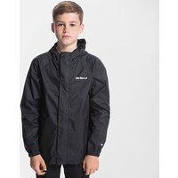 Peter Storm Kids' Unisex Packable Waterproof Jacket, Black/Black
