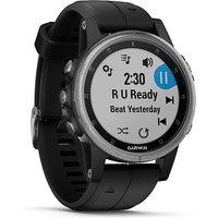 Garmin fenix 5S Plus Multisport GPS Watch, SLV-BLK-SLV-BLK