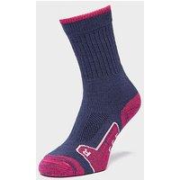 BRASHER Women's Walker Socks, NVY/PNK/NVY/PNK