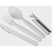 EUROHIKE Four Piece Cutlery Set, Silver/SET