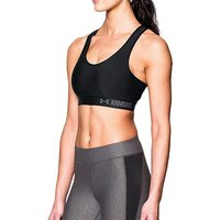 Under Armour Women's Armour Mid Sports Bra, BLACK