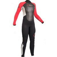 GUL Junior Boy's Response 3-2mm Flatlock Steamer Wetsuit, BLACK-RED