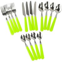 HI-GEAR 16 Piece Cutlery Set, LIME