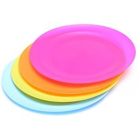 HI-GEAR 4 Piece Round Plate Set, ASSORTED