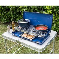 CAMPINGAZ Elite Camping Chef Double Burner and Grill, BLUE/CHEF