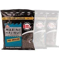 DYNAMITE Marine Halibut Pellets, Pre-Drilled 8mm (350g bag), NOCOLOUR/DRILL