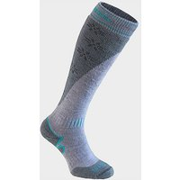 BRIDGEDALE Women's Ski Midweight+ Merino Endurance Over Calf, STONE-GREY
