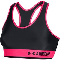 Under Armour Women's Armour Mid Sports Bra, GREY RED GREY