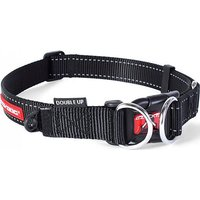 EZY-DOG Double Up Dog Collar (L), BLACK