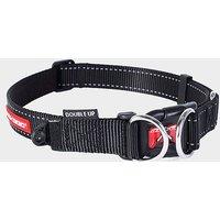 EZY-DOG Double Up Dog Collar (XL), BLACK
