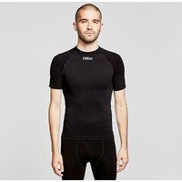 OEX Men's Barneo Base Top SS, BLK-GRAPHITE