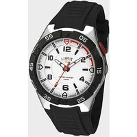 LIMIT Active Analogue Men's Sports Watch, BLACK SILVER/WATCH