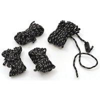 Hi-gear Reflect Ropes (4mm X 4m), Black
