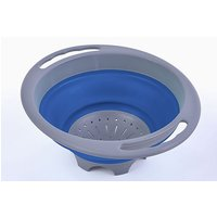 Hi-Gear Folding Colander, BLUE/GREY