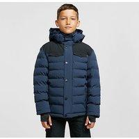 THE EDGE Kids' Banff Insulated Jacket (ages 13-16), BLACK IRIS/BO