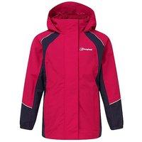 Berghaus Kids' Callander Waterproof Jacket, RASPBERRY-NAVY