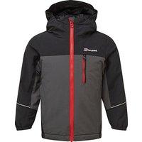 Berghaus Kids' Rannoch Insulated Waterproof Jacket, GREY-BLACK