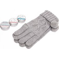 Handy Heroes Knitted Gloves And Lip Balm Gift Set, Grey